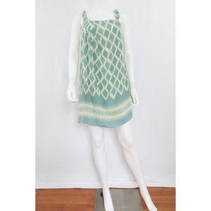 Moulinette Soeurs | Blue-greeen Ivory Mini Dress
